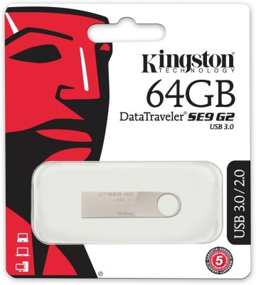 Kingston DataTraveler SE9 G2 USB 3.1 64  GB Pen Drive Grey Kingston Pen Drives