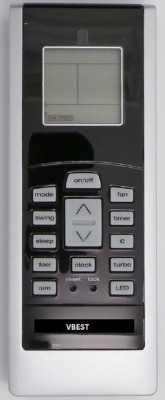 VBEST AC -8 REMOTE COMPATIBLE REMOTE Remote Controller(Multicolor)