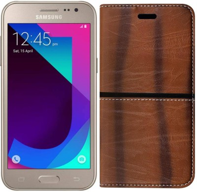 separation shoes 65257 e7095 Samsung Galaxy J2 Pro Flip Cover by Mercator - Golden