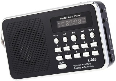 CRETO Latest Multi-feature L-938 Radio FM Music Player Support USB pendrive , aux and memory card FM Radio(Black)  available at flipkart for Rs.999