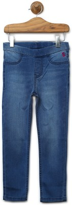 Barbie Jegging For Girls(Blue, Pack of 1) at flipkart