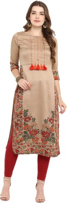 Janasya Women Printed, Striped A-line Kurta(Multicolor)