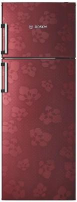 Bosch 347 L Frost Free Double Door 3 Star Refrigerator(Wine Red, KDN43VV30I) at flipkart
