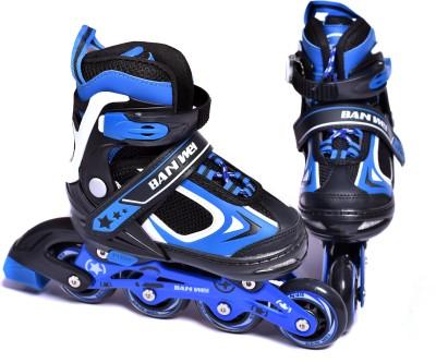 Iris 78 mm Adjustable Banwei In-line Skates - Size 3-6 UK(Blue)