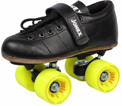 Jonex Men Gold Fix Body Size 7 Quad Roller Skates - Size 7 UK(Red)