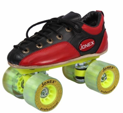 Jonex Men Professional Fix Body Size 7 Quad Roller Skates - Size 7 UK(Red)