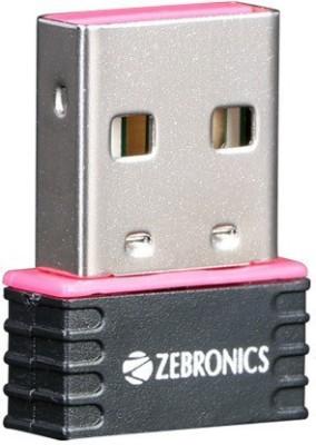 Zebronics ZEB - USB150WF Mini WiFi USB Adapter(Black)
