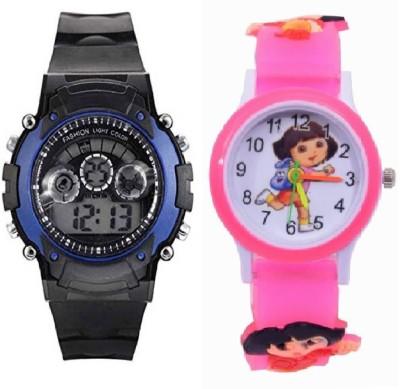 LAVISHABLE Zest4Kids Dora with Seven colours Watch Analog Digital Watch   For Boys LAVISHABLE Wrist Watches