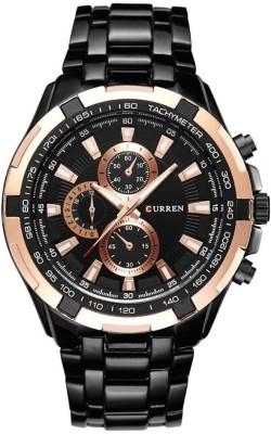 Curren Cur-G-Black Decker Watch  - For Men
