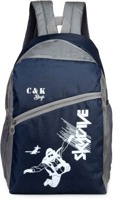 Chris & Kate CKB_122SS Waterproof School Bag(Blue, 23 L)