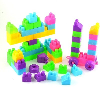 CHANNEL2OYS Building Blocks DIY Toy Building Bricks for Kids 40 pc Buy 1+ GET 1 Free  Multicolor CHANNEL2OYS Blocks   Building Sets