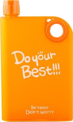 AURAWINGS.IN Note Book Portable Bottle (BPA Free; Non Toxic Plastic; Orange) Water Bottle 380 ml Bottle(Pack of 1, Orange)