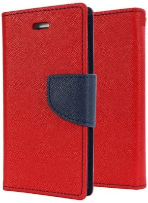 Fresca Flip Cover for Infinix Smart 2(Red, Dual Protection)