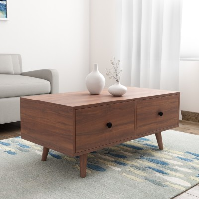 Woodness Engineered Wood Coffee Table(Finish Color - Oak)