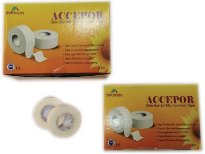 Medi-Access Accepor Skin Barrier Microporous Tape First Aid Tape(Pack of 16)