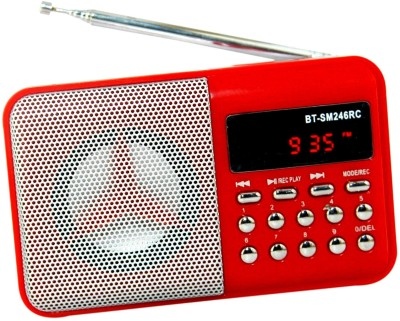 OYD BT246 digital sound FM Radio support recording , usb pendrive, aux in FM Radio(Red)  available at flipkart for Rs.999