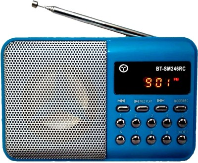 OYD Latest Series BT246 Fm Radio with Digital sound and Display support recording , usb pendrive, aux in FM Radio(Blue)  available at flipkart for Rs.999