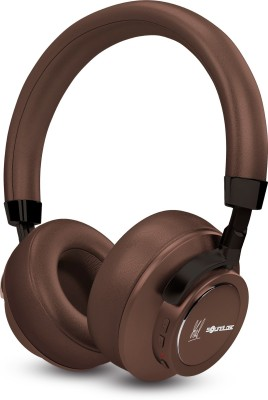 SoundLogic Voice Assistant Wireless Stereo Headphon Bluetooth Headset(Brown, Wireless over the head)