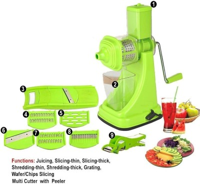 Floraware Juicer Combo slicers, 2 In 1 Cutter, Peeler Green Kitchen Tool Set(Green)