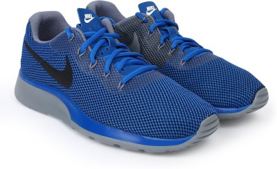 Nike TANJUN RACER Walking Shoes For Men(Blue) 1