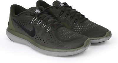 Nike FLEX 2017 RN Running Shoes For Men(Green) 1