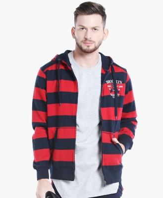Spunk by fbb Full Sleeve Striped Men Sweatshirt at flipkart