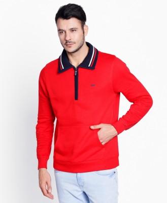 Spunk by fbb Full Sleeve Solid Men Sweatshirt at flipkart