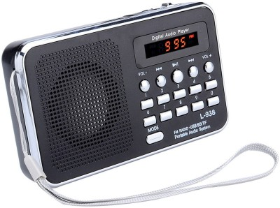 CRETO Latest Digital L-938 Mp3 Music Player FM Radio Support USB pendrive , aux and memory card FM Radio(Black)  available at flipkart for Rs.999