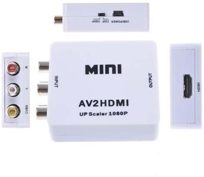 TECHGEAR TV out Cable 3RCA/ AV Composite Video AV to HDMI Converter White, For TV TECHGEAR Mobile Cables