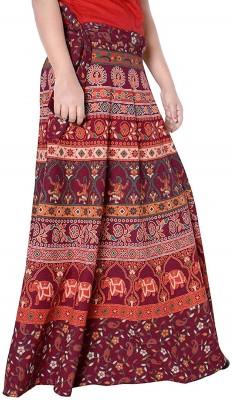freya studio Floral Print Women Wrap Around Multicolor Skirt Flipkart