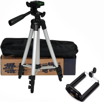 BUY SURETY Premium Quality Tripod 3110 Stand 360 Degree Portable Digital Camera DSLR Mobile Stand Holder Camcorder Tripod Stand Lightweight Aluminum Flexible Portable Three-way Head Compatible Tripod Mobile Holder