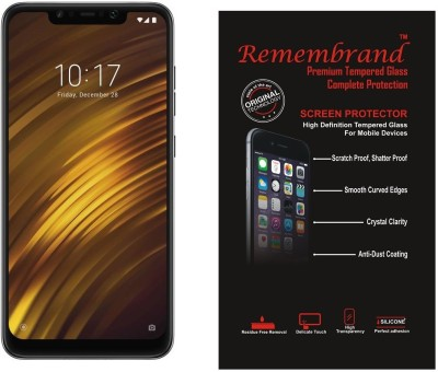 Remembrand Tempered Glass Guard for POCO F1(Pack of 1)