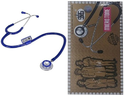 MSI Original Microtone Blue Stethoscope with Pink and Grey tube with Ear Piece and Diaphragm Acoustic Stethoscope(Blue)