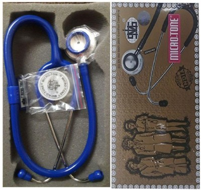 MSI Original Microtone Blue Stethoscope with Black and Green tube with Ear Piece and Diaphragm Acoustic Stethoscope(Blue)