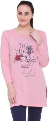 IN Love Casual Regular Sleeve Printed Women Pink Top