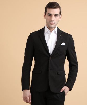 Arrow Sport Solid Tuxedo Style Casual Men Blazer(Black) at flipkart