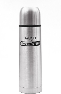 Milton Thermosteel With Plain Lid 500 ml Flask(Pack of 1, Silver)