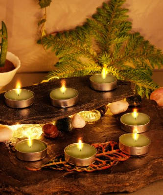 AuraDecor Smokeless Tealights 2 hour Burning Candle(White, Pack of 50) 1