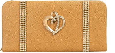 Louise Belgium Casual Gold  Clutch at flipkart