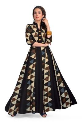 MADHURAM TEXTILES Women Printed Gown Kurta(Multicolor)