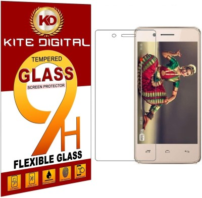 KITE DIGITAL Tempered Glass Guard for MICROMAX BHARAT 4(Pack of 2)