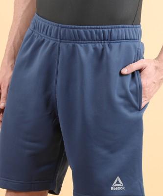 REEBOK Self Design Men Blue Sports Shorts