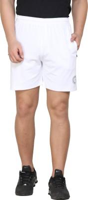 mesa Solid Men White Basic Shorts, Sports Shorts, Boxer Shorts, Regular Shorts, Running Shorts, Cycling Shorts, Beach Shorts