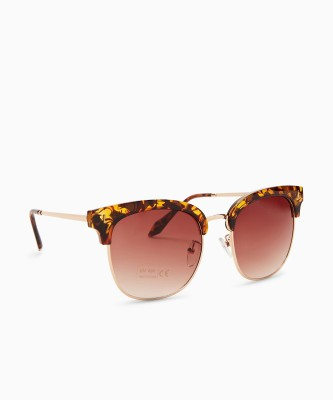 Provogue Round Sunglasses(Brown)