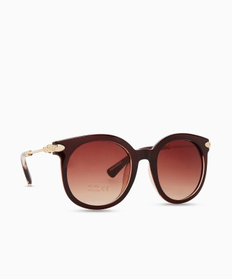 Provogue Oval Sunglasses(Brown)