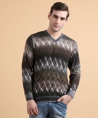 Duke Self Design V-neck Casual Men Multicolor Sweater
