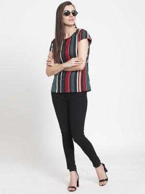 TANDUL Casual Regular Sleeve Striped Women Multicolor Top