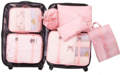 HOUSE OF QUIRK 7 Set Travel Organizer Bag 3 Packing Cubes + 3 Pouches + 1 Toiletry Organizer bag, Premium...