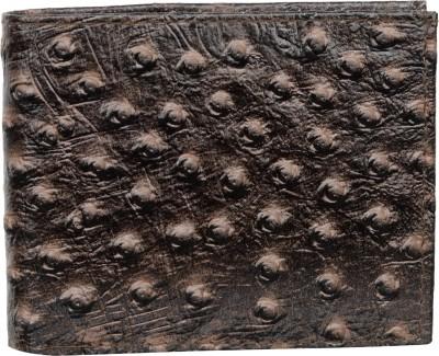 AspenLeather Men Brown Genuine Leather Wallet 4 Card Slots