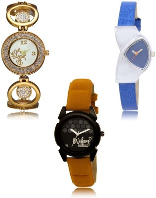 Stylexa SX-207-208-235 Hot Selling Combo Collection Pack of 3 Exclusive Designer Combo Watch  - For Women